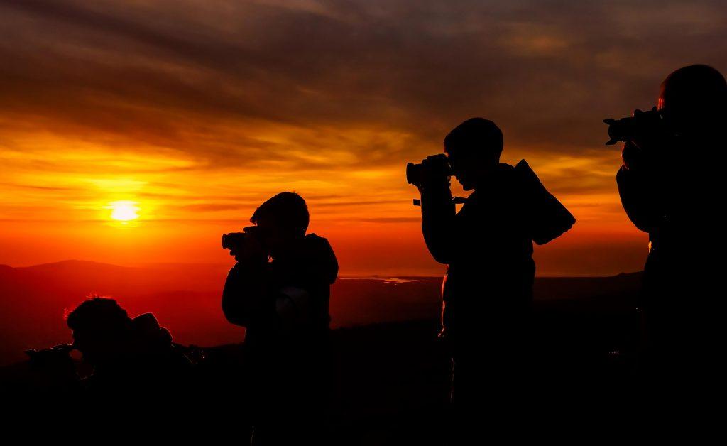 ถ่ายรูปพระอาทิตย์ตกดิน