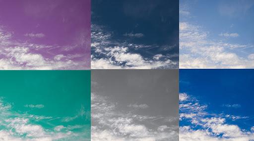 แต่งรูปถ่ายรูปท้องฟ้า