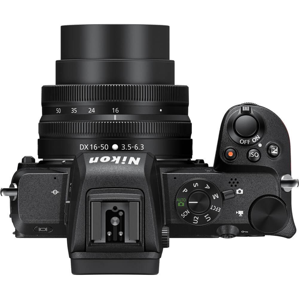 Nikon Z50 body Kit-ด้านบน