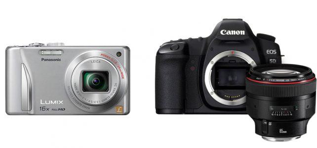 ความต่างของประเภทของกล้อง